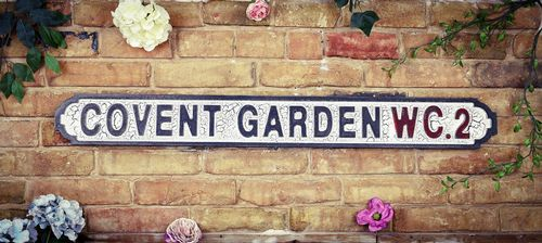 Covent Garden WC2 Vintage Road Sign / Street Sign